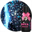 Diva Gel Lak Dark Multi Glitter 15 ml.