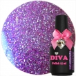 Diva Gel Lak Glitter Jewel Purple 15 ml.